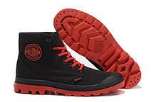 Кеды Palladium Pampa Hi Black Red  мужские