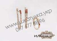 Серебряный гарнитур с золотом и фианитом Илона 2, фото 1