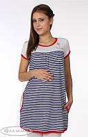 Туника для беременных Breeze сине-белая полоска-S-M