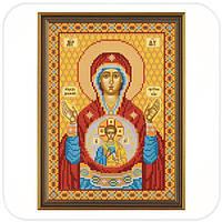 """Рисунок на ткани для вышивания бисером """"Богородица «Знамение»"""""""