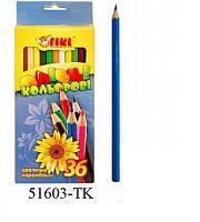 Олівці кольорові 36 шт 51603-ТК (ТІКІ)
