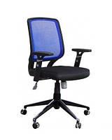 Кресло Онлайн Алюм сиденье Сетка черная/спинка Сетка синяя
