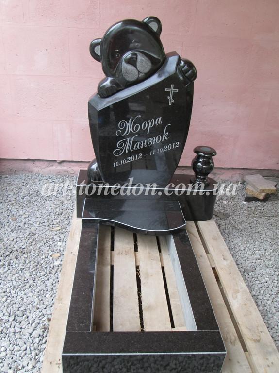Памятник детский Мишка полированный