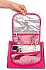 Косметичка дорожная в ванную с крючком Premium (розовый), фото 3