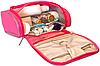 Дорожный органайзер для косметики Premium (розовый), фото 5