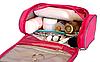 Косметичка дорожная в ванную с крючком Premium (розовый), фото 6