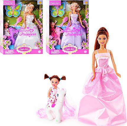 Кукла с дочкой и лошадкой, DEFA 8077, фото 2