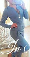 Стильный серый женский спортивный костюм. Арт-5436/56.
