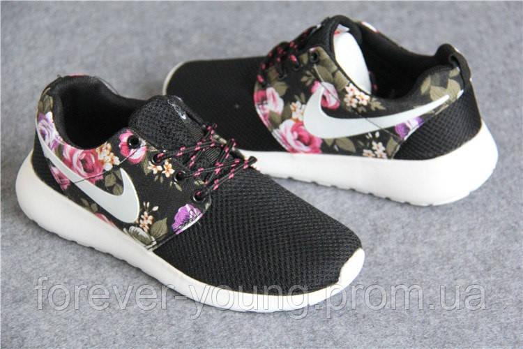 7e3104c6 Купить Кроссовки женские Nike Roshe Run цветочный принт копия в ...