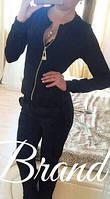 Стильный чёрный женский спортивный костюм. Арт-5436/56.