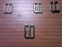 Крючек для брителей 1см метал швейная фурнитура Харьков цвет хром