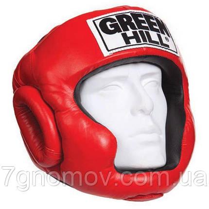 Шлем боксерский Green Hill SUPER красный HGS-4019 Размер S, фото 2