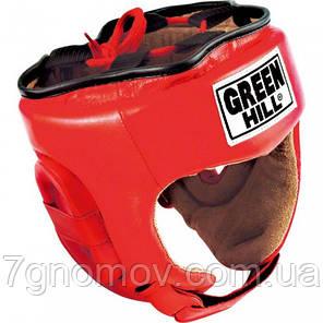 "Шлем боксерский Green Hill ""Five star"" красный HGF-4013 размер S, фото 2"