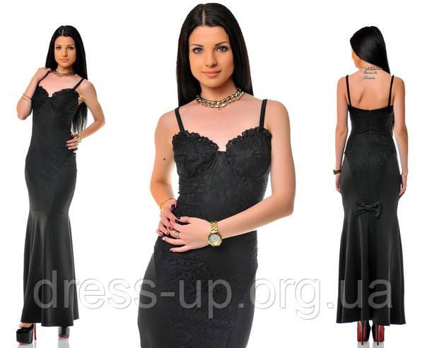 d0b3bb38f0dd Платье женское черное Новинка ОД -5092 - Dress Up -интернет магазин женской