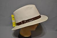 Шляпа мужская Хантор лен+хлястик.