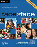 Face2Face Second Editon Pre-Intermediate Student's Book with Online Workbook +DVD ROM (Учебник с диском)