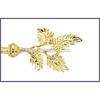 Наконечник к кованым карнизам Папоротник ø16мм цвет золото