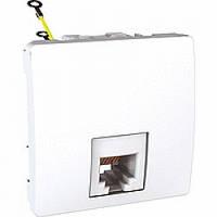 Розетка Schneider-Electric Unica телефонная 6 конт. RJ11 белый