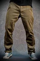 Мужские брюки (штаны) Чинос цвет хаки р. S