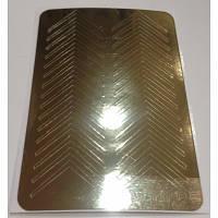 Металлизированные наклейки Canni M-002 золото (шеврон)