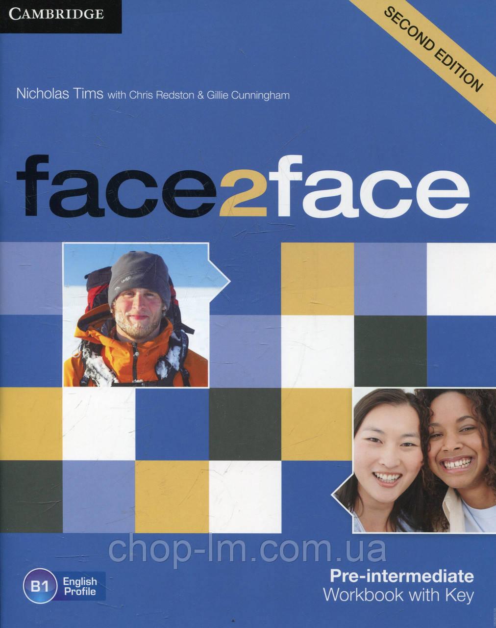 Face2Face Second Editon Pre-Intermediate Workbook+Key (Рабочая тетрадь/зошит)