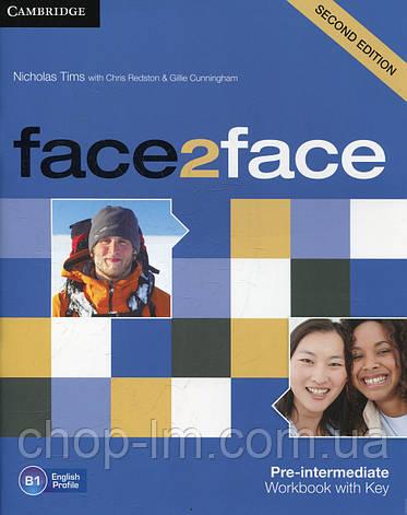 Face2Face Second Editon Pre-Intermediate Workbook+Key (Рабочая тетрадь/зошит), фото 2