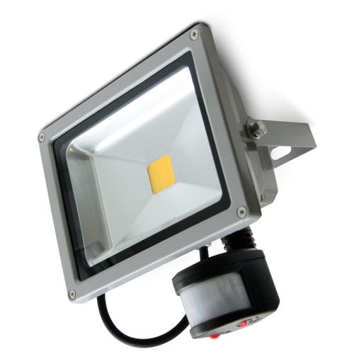 Светодиодный прожектор с датчиком движения 20W LEDEX