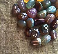 Руны из камня, 25 символов. Цветной агат (S)