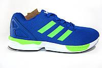 Мужские  кроссовки Adidas ZX Flux, синие, Р. 44