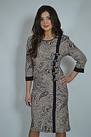Красивое стильное батальное платье с оригинальным принтом