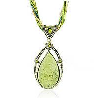 Ожерелье / подвеска зеленый ретро кулон