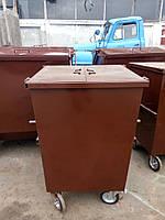 Бак мусорный с крышкой+колеса Универсальный 0,75 м.куб. (2мм), бесплатная доставка по Украине