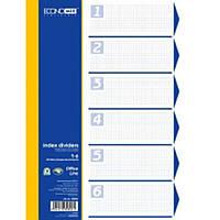 Разделители Economix 30806 микс 1-6 цифр, цветной