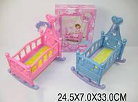 Кроватка для кукол пластмассовая 60553