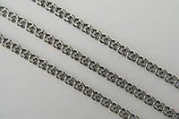 Серебряная цепь Бисмарк московский вывернутый из черненого серебра