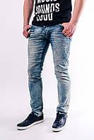 Мужские джинсы светлые потертые