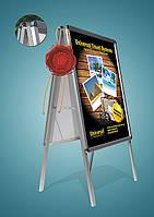 Штендер с клик системой с защитным экраном, Штендер 60x80, штендер - мимоход