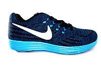 Мужские кроссовки Nike Free Flyknit, синие, текстиль, Р.  43 44