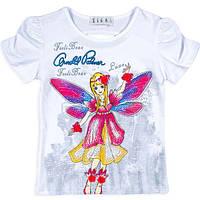 Красивая футболка для девочек с рисунком и стразами
