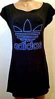 Платье лето Adidas черное трикотаж р 44-48