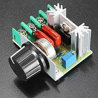 Контроллер скорости вращения двигателя регулятор переменного тока для ТЭНов 50-220В 2000Вт