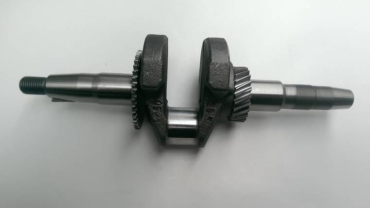 Колінвал м/б 168F/170F (6,5/7Hp)(під конус, Ø20mm)(c шестернями), фото 2