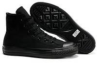 Женские высокие кеды Converse Chuck Taylor All Star (конверс, конверсы оригинал) черные