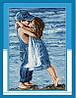"""Набор для вышивки крестом  """"Влюбленные на берегу"""""""