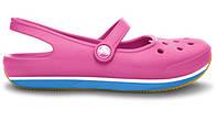 Женские кроксы Crocs Flats розовые