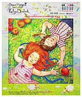 """Рисунок - схема для вышивания бисером """"Зацелованные солнышком"""""""