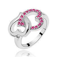 Кольцо женское Сердца