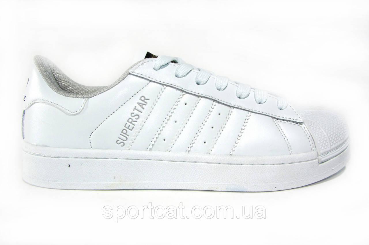 8ded587b8 Мужские кроссовки Adidas Superstar Foundation, кожаные, белые -  Интернет-магазин