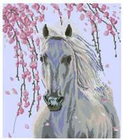 """Набор для вышивки крестом  """"Белая лошадь"""""""