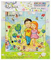 """Рисунок - схема для вышивания бисером """"Love is"""""""